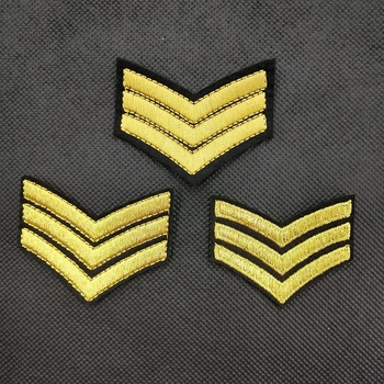 3pcs Sergeant Military Rank America Army Embroidery Fabric Badge DIY Iron on Patch for Jacket Apparel Decorative Applique