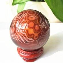 Natural sardonyx ágata bola de cristal esfera de quartzo carnelian orb gem pedra cura 28-45mm