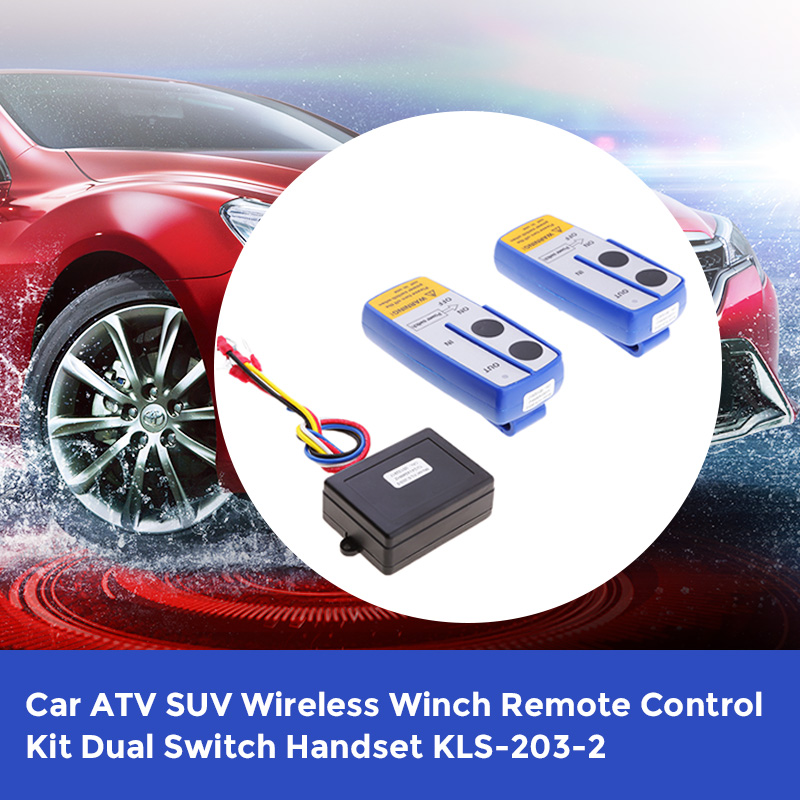 Image 3 - 1 Set Car ATV SUV Wireless Winch Remote Control Kit Dual Switch 30m Power In/Out Control From 55*40*25mm-in Car Switches & Relays from Automobiles & Motorcycles