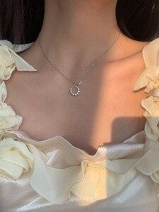 Ювелирные изделия из стерлингового серебра s925 с Луной, комбинированное ожерелье, цепочка до ключиц, милое свежее и нежное модное женское ожерелье Ожерелья      АлиЭкспресс