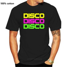 DISCO Hommes T-Shirt S-3XL Néon Déguisement 80s 80 90s 90 Costume Tenue Haut