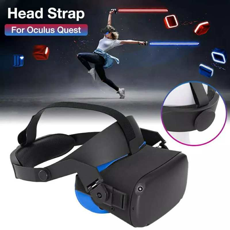 GOMRVR Adjustable halo Strap for Oculus Quest VR Comfort Foam Pad Strap Perfect 50  50 Balance Weight Relieve Face Squeeze