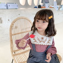 Kids Baby Girls Blouses Floral Embroidery Clothing