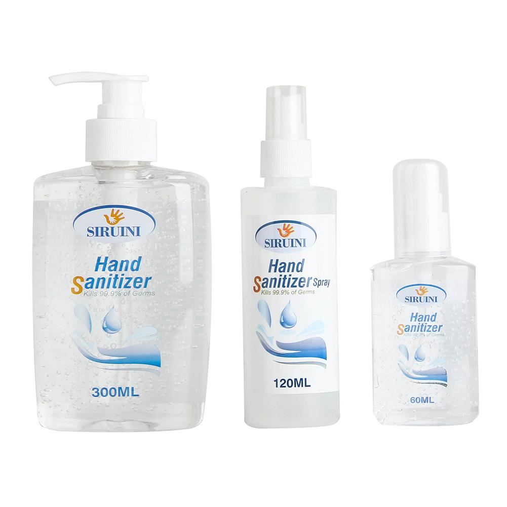 60ml Disinfection Rine-free Hand Sanitizer 70% Alcohol Spray Portable Disposable Prevention Hand Sanitizer