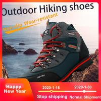 2019 Outdoor Big Size Waterproof Hiking Shoes For Men Suede Breathable Trekking Sneakers Mountain Boots Anti Slippery Sneakers