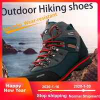 2019 ao ar livre grande tamanho impermeável caminhadas sapatos para homens camurça respirável tênis de trekking botas de montanha anti-escorregadio tênis