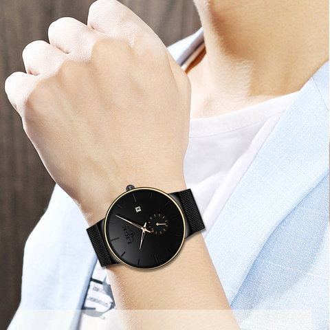 LIGE Fashion Watches Casual Waterproof Quartz Clock Mens Watches Top Brand Luxury Ultra-Thin Date Sports Watch Relogio Masculino Karachi