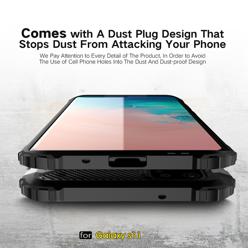 Rugged Dual Layer Armor <font><b>Case</b></font> <font><b>for</b></font> <font><b>Samsung</b></font> Galaxy S20 Ultra S10 Note 10 Plus A10 <font><b>A30</b></font> A40 A50 A71 A51 Heavy Duty <font><b>Shockproof</b></font> Cover image