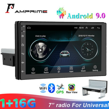 AMPrime 2 Din Car Multimedia Video player 7 Autoradio For Universal Bluetooth Radio WIFi GPS Audio Stereo image