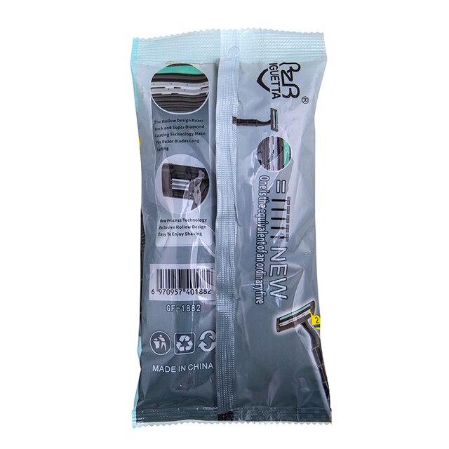 Станок для бритья RZR Iguetta GF2-1882, 5 шт черный