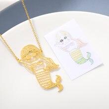 Индивидуальное ожерелье с милым детским рисунком детское художественное