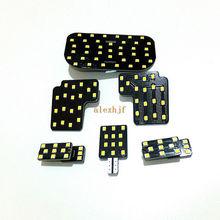 Temmuz kral 6 adet 6000K 2835SMD LED okuma ışık kutusu Subaru Forester için 2013 16, 3 Dome işık + 1 bagaj lambası + 2 kapı ışıkları