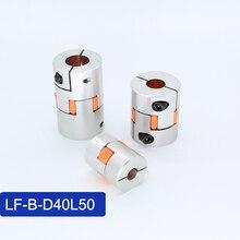 LONGWE LF-B-D35L50 Servo Plum Shaft Coupler D35 L50 L60 3 Jaw Hard Anodized Elastic Coupling 8mm-10mm-20mm for Handing Equipment