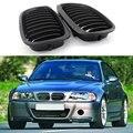 2 шт. автомобиль передняя решетка радиатора для BMW 3-серии 2DR E46 318I 320I 325I 330I 1998-2006 седан/Wagon для гоночных автомобилей матовый/черный глянец