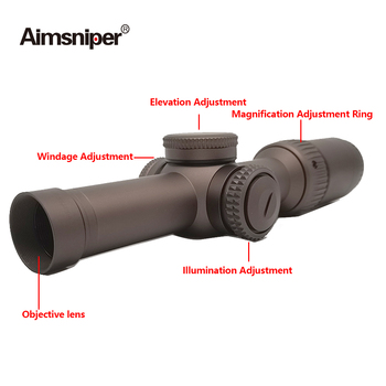 Tactical Vort Optics 1-6x24 Riflescope Razor Hd Gen Hunting Rifle Scope MRAD Reticle Sight With Scope Mount For Airsoft Gun 5