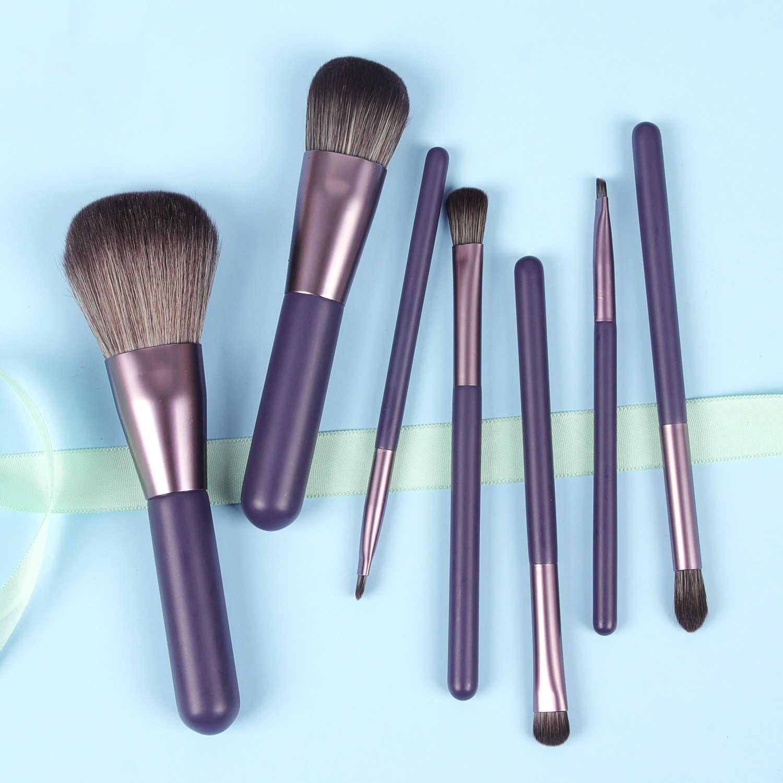 7 Stks/set Vrouwen Facial Make-Up Kwasten Set Gezicht Cosmetische Schoonheid Oogschaduw Lip Foundation Blush Brush Make Up Brush Tool