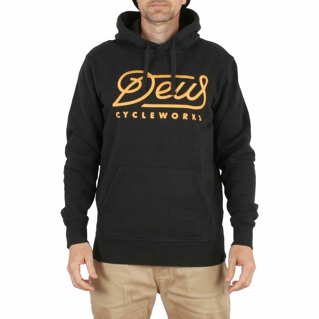 Deus Ex Machina Slushfund Pullover Hoodie - Black Men Long Sleeve Gym Jogger Winter Summer Coat
