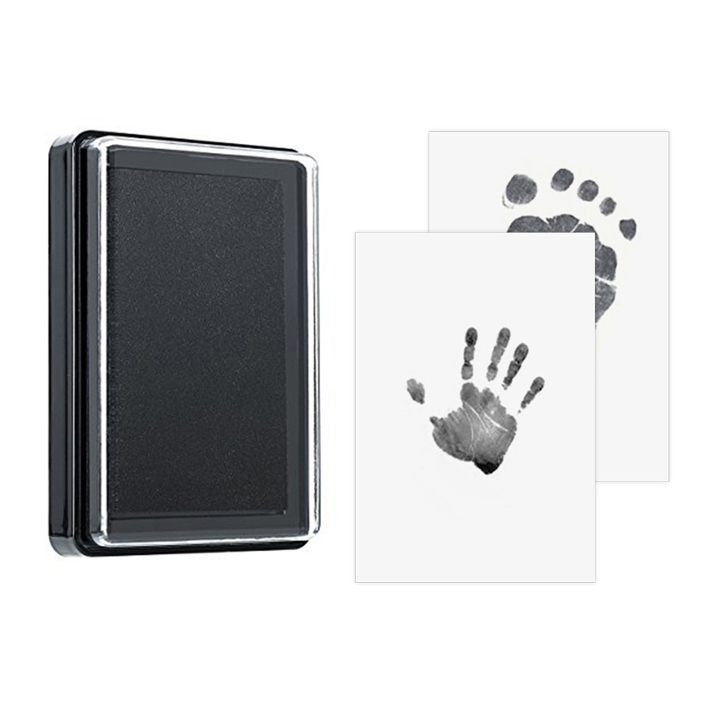 Baby Handprint Footprint Non-toxic Newborn Imprint Hand Inkpad Watermark Infant Souvenirs Casting Clay Toys Gift 2-3Y