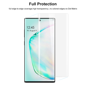 Image 2 - Full Glue Nano Liquid UV Tempered Glass For Samsung Galaxy Note 10 UV Screen Protector For Galaxy Note10 Plus Curved Glass