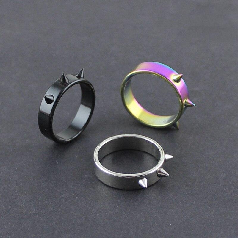 Auto-defesa anel portátil armas de dedo sobrevivência ao ar livre de emergência de vidro quebrando punk anéis protetor