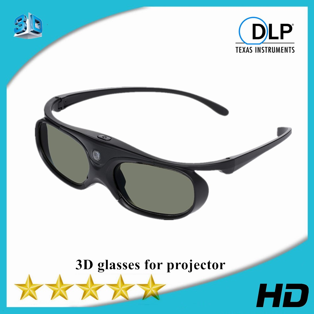 Active Shutter DLP Link 3D Glasses Compatible 96-144HZ With Optama /Acer/BenQ /ViewSonic/XGIMI DLP Link Projectors DLP 3D Ready