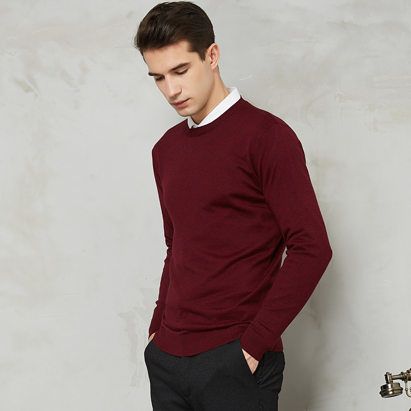10 Colors Men's Casual Knit Sweater 2019 Autumn Spring New Slim Fit Pullover Wool Cashmere Sweater Men Brand Clothes