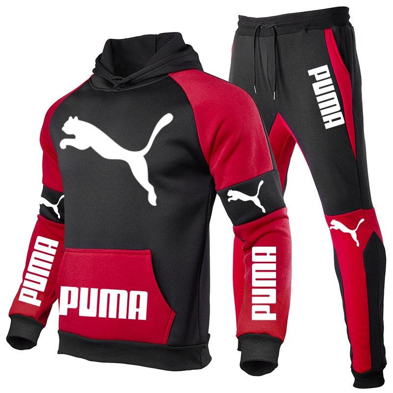 Мужские комплекты, осень/зима, Мужская модная толстовка + брюки, спортивная одежда, 2021 фирменная спортивная одежда, мужская одежда