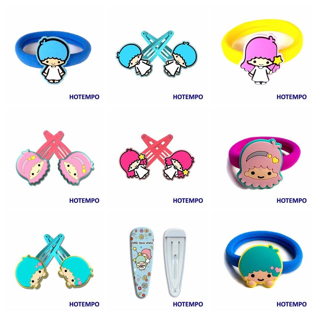Japan Cute Cartoon Little Twin Stars Lala Baby Girl Hair Accessories Kawaii Hairpin Elastic HairBands Hair Clip For Kids Gift