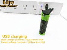 Batteria del computer portatile 18650 3.7V 3500mAh 5000M USB Li Ion Batteria Ricaricabile 4 LED Indicatore di batteria della banca di Potere Mobile ricarica batte
