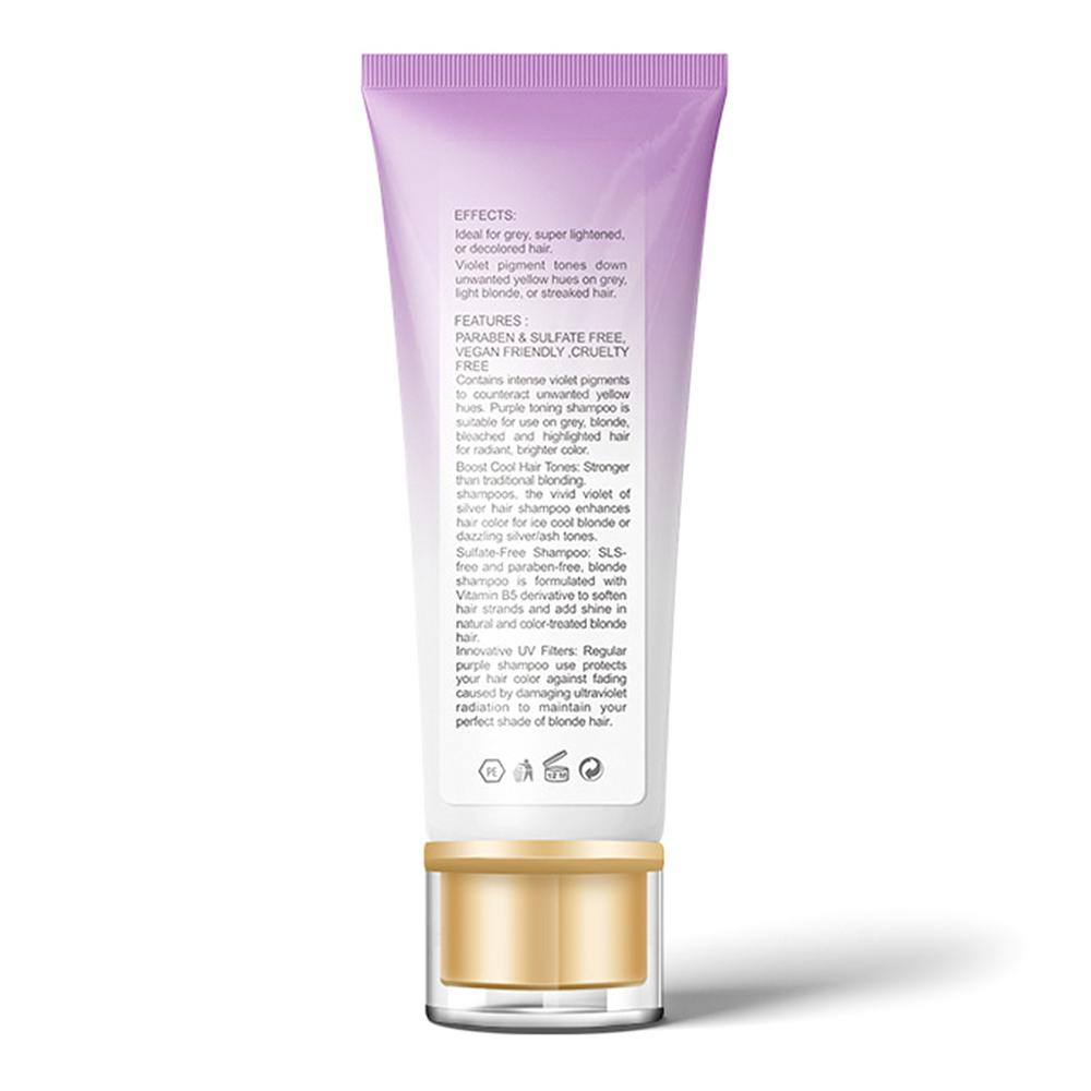 Purple Shampoo Removes Yellow Brassy Tones of Hair Neutralize Orange Green for Silver Ash look Salon Home