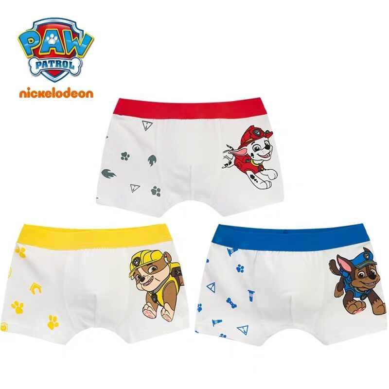 2pcs Genuine Paw Patrol Chase Marshall Rubble Boy Girl Cartoon Underwear Kids Panties Cotton Underpants Children Toy Gift Doll