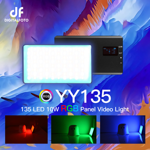 Image 1 - DigitalFoto YY135 RGB LED 2500 8500K Legierung Shell RGB Video LED Panel Licht Builtin Batterie für vlogging video DSLR YouTube live
