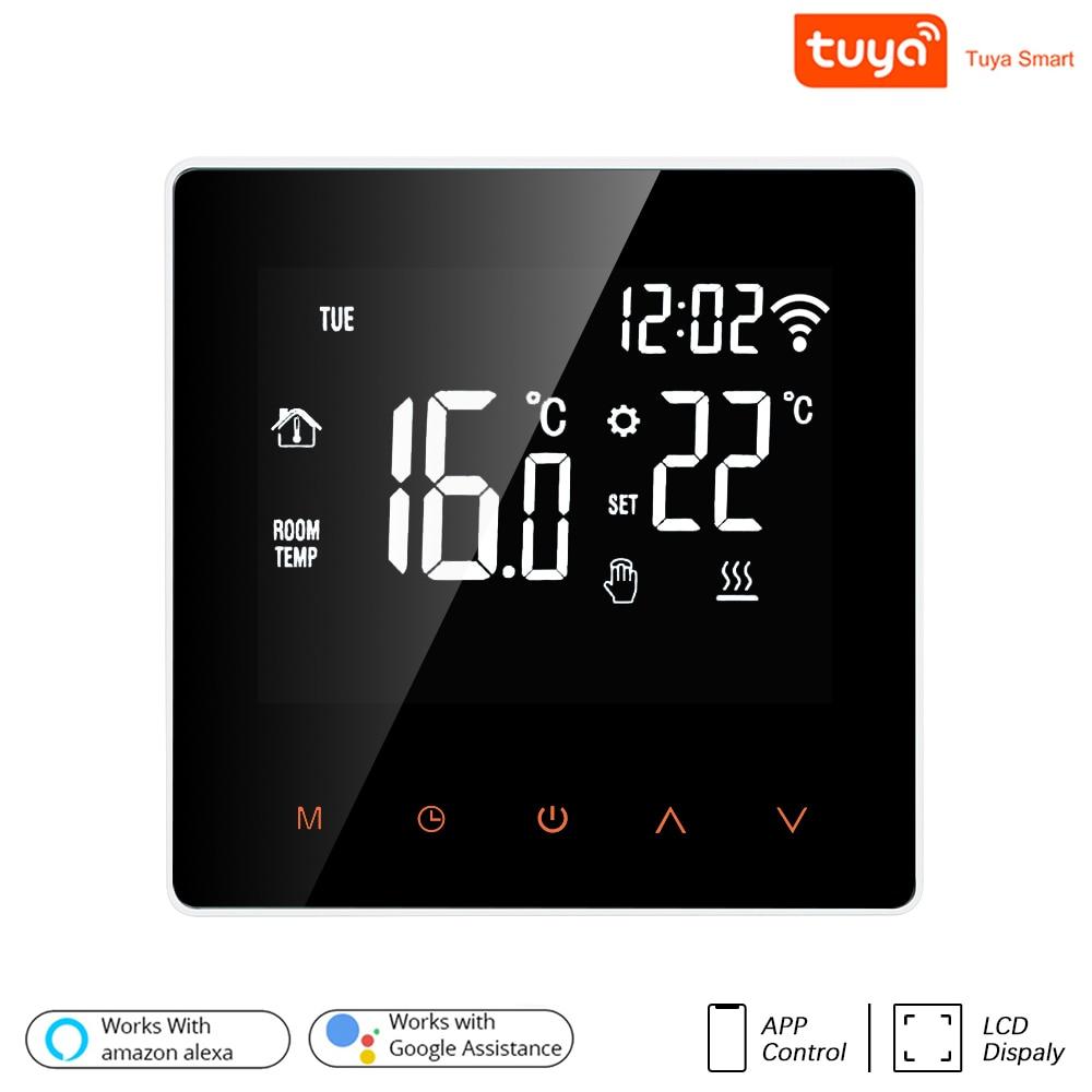 3a/16a wifi termostato inteligente para piso elétrico aquecimento de água/caldeira a gás temperatura controle remoto display lcd tela toque