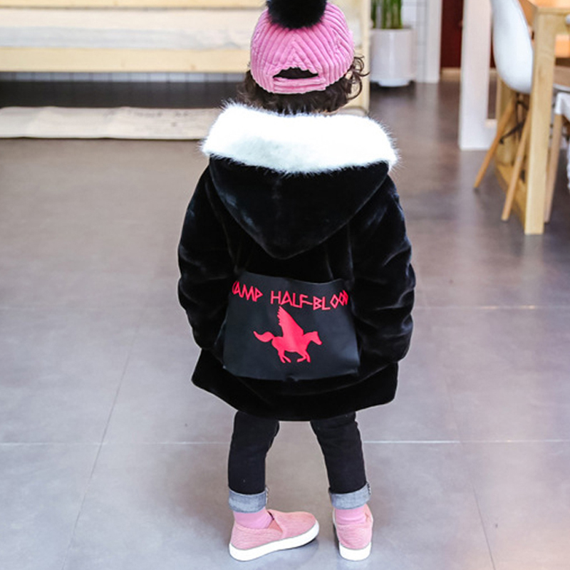 Warm Thicken Cotton Padded Creative Festive Costume Girls Faux Fur Winter Coat