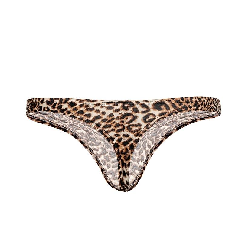 Men/'s Low-rise Leopard Printed Underwear Pouch Bikini Briefs Underpants Shorts
