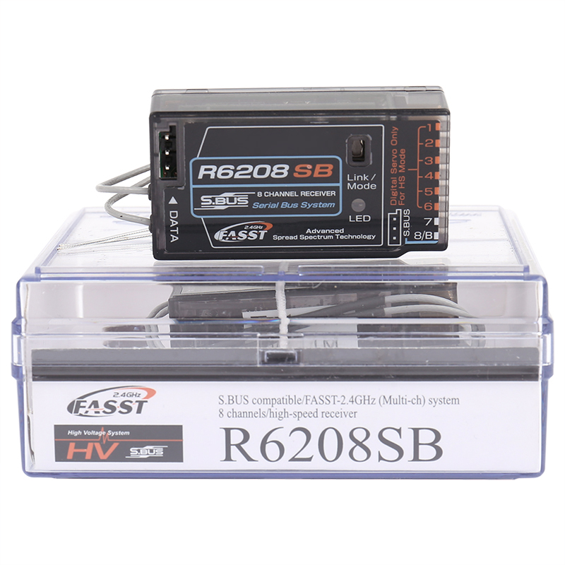 R6208SB FASST High Voltage Receiver for Futaba  S.Bus 6208  18MZ 18SZ 14SG T8FG 16SZ SBUS receiver 8 channal for RC model