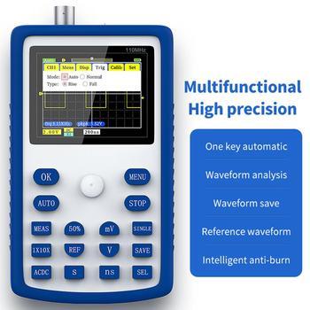 FNIRSI-1C15 Best Handheld Mini Portable Digital Oscilloscope 110M Bandwidth 500MSps Sampling Rate Multifunction fnirsi 5012h digital oscilloscope 5012h 2 4in lcd display screen 100mhz bandwidth and 500ms s sampling rate usb oscilloscopes