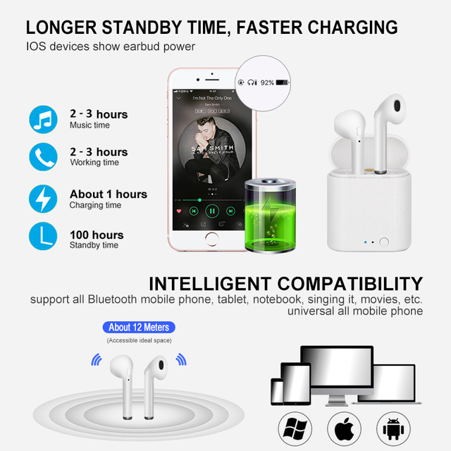 I7s TWS airpods sans fil Bluetooth écouteur 5.0 Air pods Mini airpod Sport mains libres stéréo casque avec boîte de charge pour Apple iPhone Xiaomi