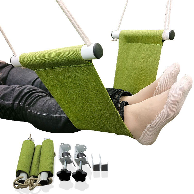 Feistel Desk Feet Hammock Foot Chair Care Tool The Foot Hammock Outdoor Rest Cot Portable Office Foot Hammock Mini Feet Rest