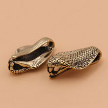 1 piece Solid Brass Retro Belt U Hook Snake Shape Fob Clip Key Ring Wallet