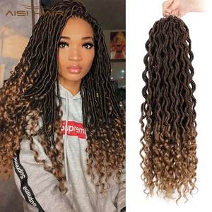 Braiding-Extensions Braids Faux-Locs-Hairs Synthetic-Hair Ombre Crochet Women Wig
