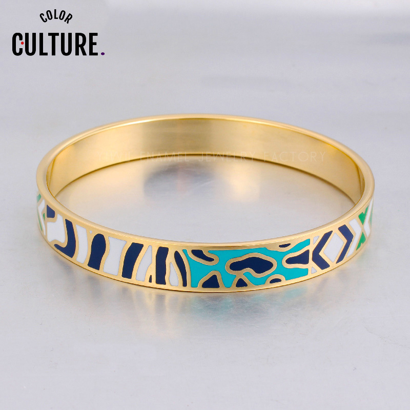 Metal Bracelet Bangles for Women 2020 New High Quality Jewelry Elegant Classic Enamel Bangles Trendy Party Jewelry