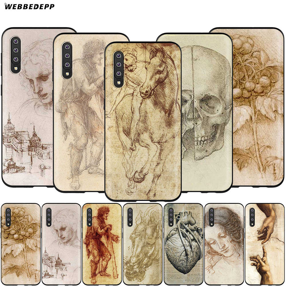 Webbedepp イタリアレオナルド · ダ · ヴィンチサムスンギャラクシー S7 S8 S9 S10 プラスエッジ注 10 8 9 A10 a20 A30 A40 A50 A60 A70
