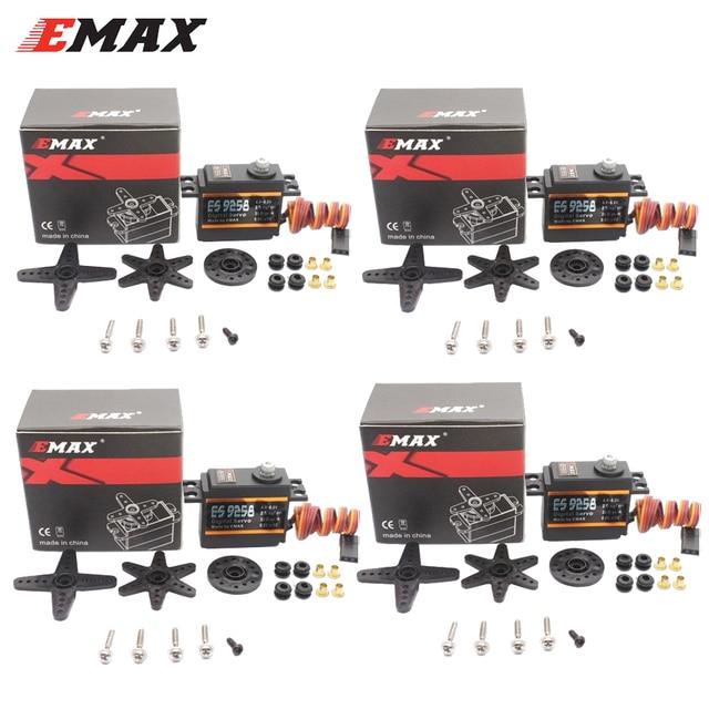 ES9258 סרוו, 4 יח\חבילה EMAX ES9258 הדיגיטלי סרוו עם ציוד מתכת 27g/ 3kg/ .05 שניות עבור rc מסוק