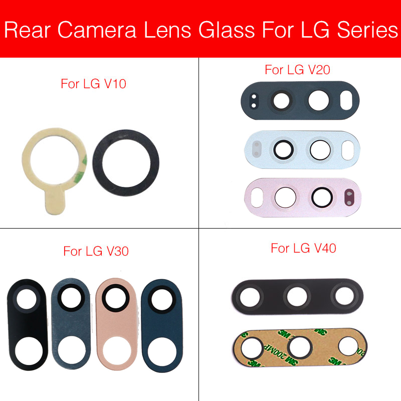 Clear Glass Lens For LG V10 V20 V30 V40 F600K H900 Rear Camera Protection Cover Back Camera Glass Lens Replacement Repair Parts