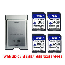 High Speed SD Card 8GB 16GB 32GB 64GB SDHC Card With PCMCIA Memory Card Adapter For Mercedes Benz MP3 memory card