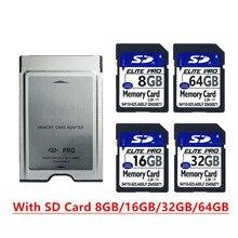 بطاقة SD عالية السرعة 8 جيجابايت 16 جيجابايت 32 جيجابايت 64 جيجابايت SDHC بطاقة مع PCMCIA بطاقة الذاكرة محول لمرسيدس بنز MP3 بطاقة الذاكرة
