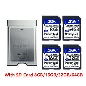 Image 1 - بطاقة SD عالية السرعة 8 جيجابايت 16 جيجابايت 32 جيجابايت 64 جيجابايت SDHC بطاقة مع PCMCIA بطاقة الذاكرة محول لمرسيدس بنز MP3 بطاقة الذاكرة