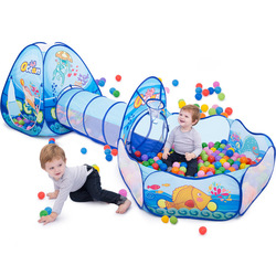 Portable Baby Playground Playpen Children Large Kids Tent Ball Pool Balls Pit with Tunnel Baby Park Camping Dry Pool