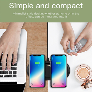 Image 5 - DCAE 20W Wireless Charger for iPhone 11 Pro XS XR X 8 AirPods 2 10W Dual Fast Charging Dock Station Pad USB C For Samsung S10 S9